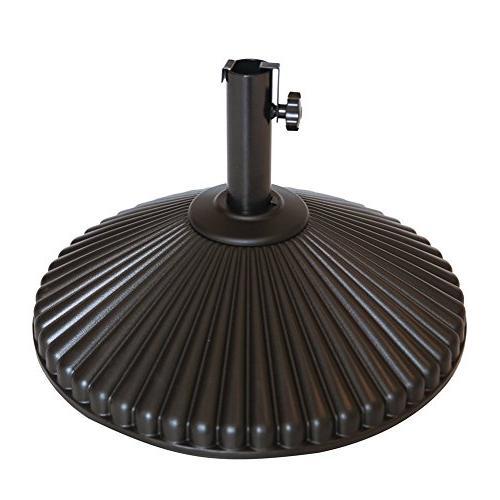 round umbrella base recyclable plastic