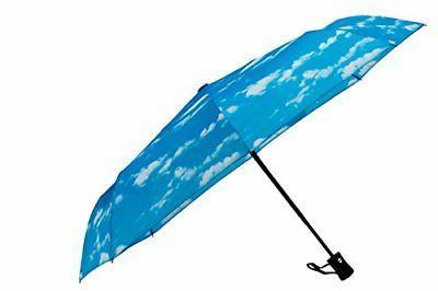 Crown Coast Sky Pattern Travel Umbrella - 60 MPH