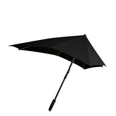 "Senz ""Smart"" Stormproof Stick Umbrella in Black Out"