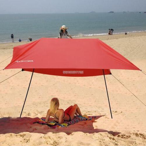 Sun Tent Beach Umbrella Lightweight Portable Camping Tent Su