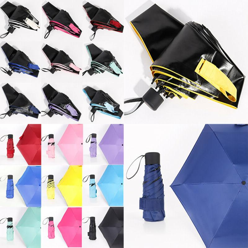 Folding Waterproof Anti-UV Rain Sun Compact Umbrella Parasol