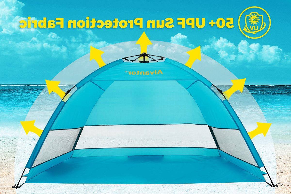 Waterproof Beach Pop-up Tent Fit Person