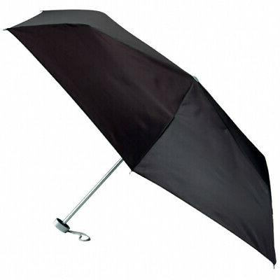 Super Mini Compact Weather Umbrella Black 40in Small Purse T