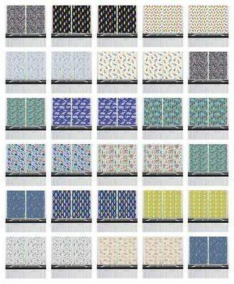 "Surfboard Kitchen Curtains 2 Panel Set Window Drapes 55"" X 3"