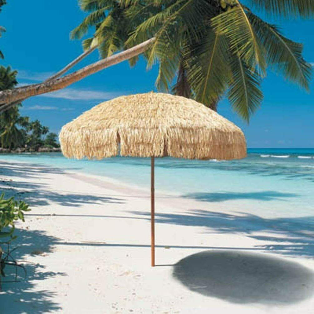 Thatched Tiki 6ft Pool Hawaiian Tropical Umbrella