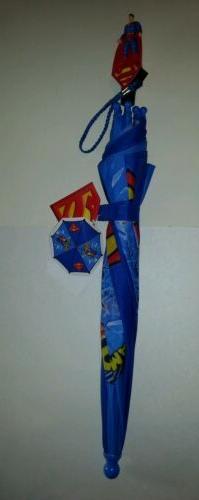 Toddler Boys DC Comics Superman Blue & Red Yellow Umbrella N