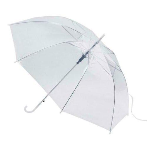 Transparent Long Handle Sun Umbrellas Wedding