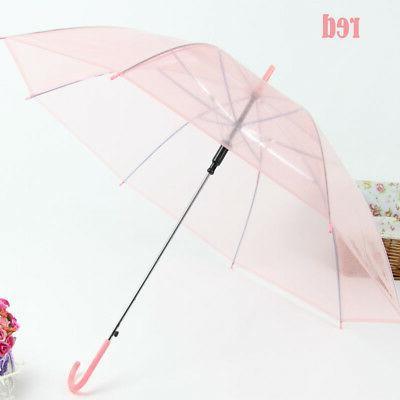 Transparent Umbrella Large Clear Parasol Sun Rain Umbrella W