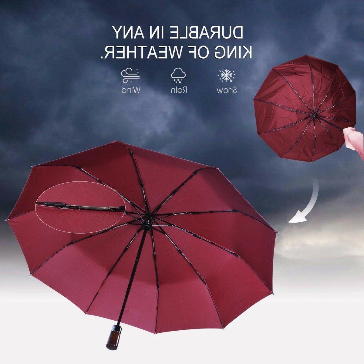 Travel Umbrella Windproof Close RED