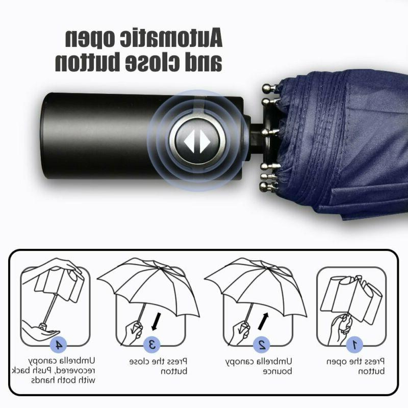 Bodyguard Travel Ribs Windproof Umbrella With Teflon