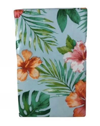 tropical vinyl umbrella tablecloth with hole zipper