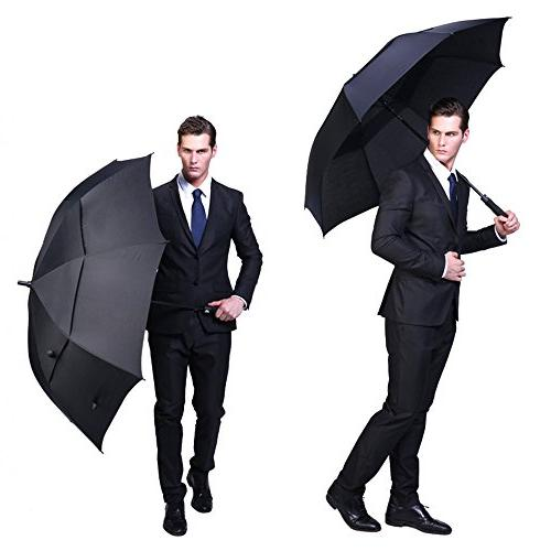 G4Free Umbrella Double-Canopy Oversize Black Windproof Waterproof Automatic Best Men