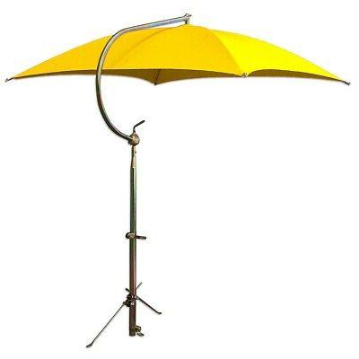 umbrella yellow w frame and mounting bracket