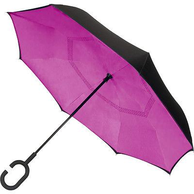 ShedRain UnbelievaBrella Reversible Stick Umbrella Umbrellas