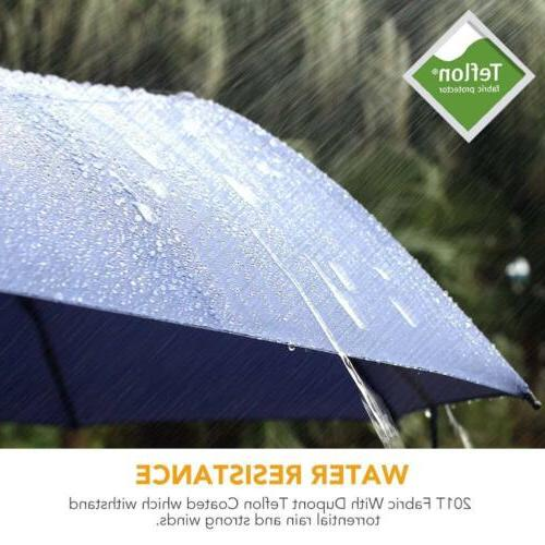 45Inch Fnova Umbrella Windproof Tested Open Close with Ergonomic