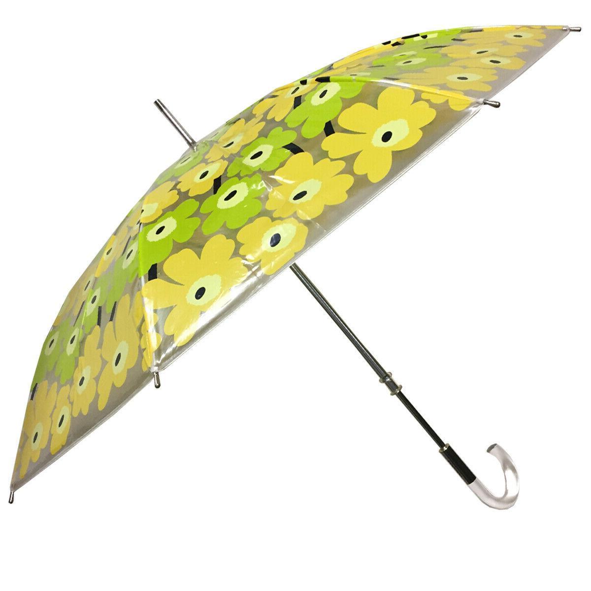 unikko yellow clear stick umbrella nwt