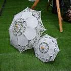 Vintage Lace White Bride Wedding Set Of Umbrella Battenburg