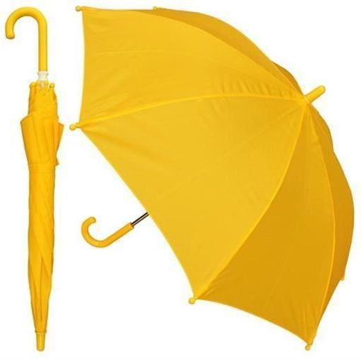 RainStoppers W101CHYEL 32 in. Childrens Solid Yellow Umbrell