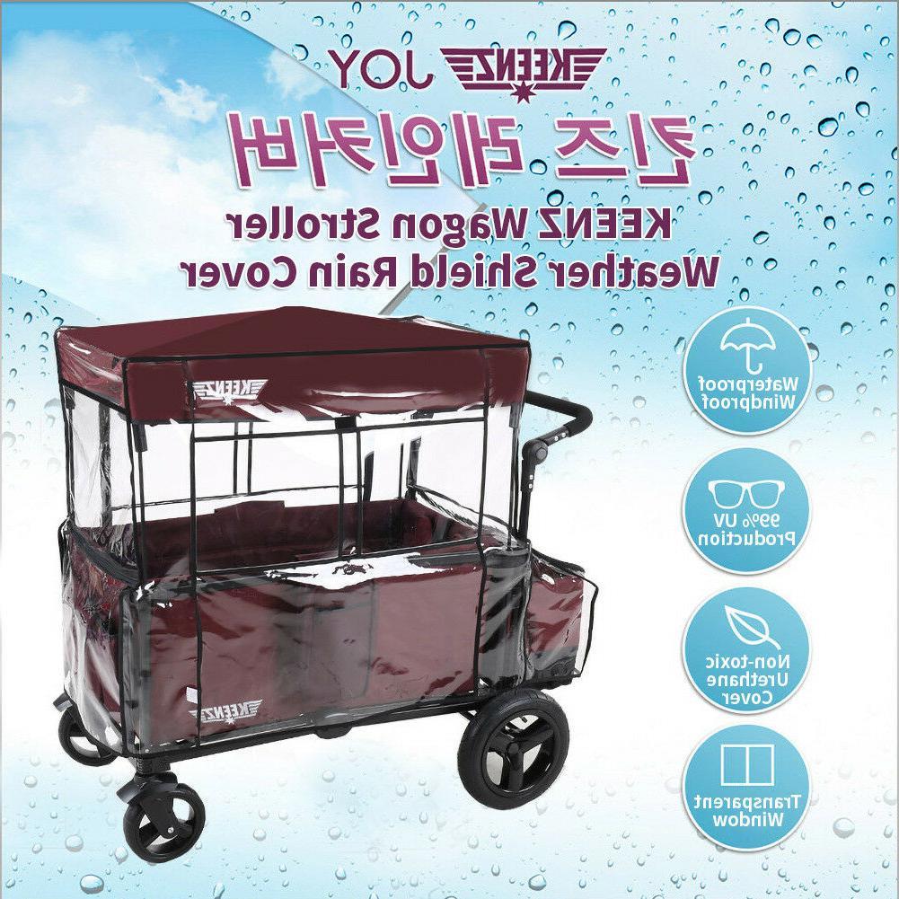KEENZ Wagon Stroller Weather Shield Rain Cover UV