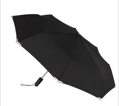 walksafe automatic open and close umbrella black