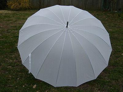 white wedding umbrella 16 panel classic design