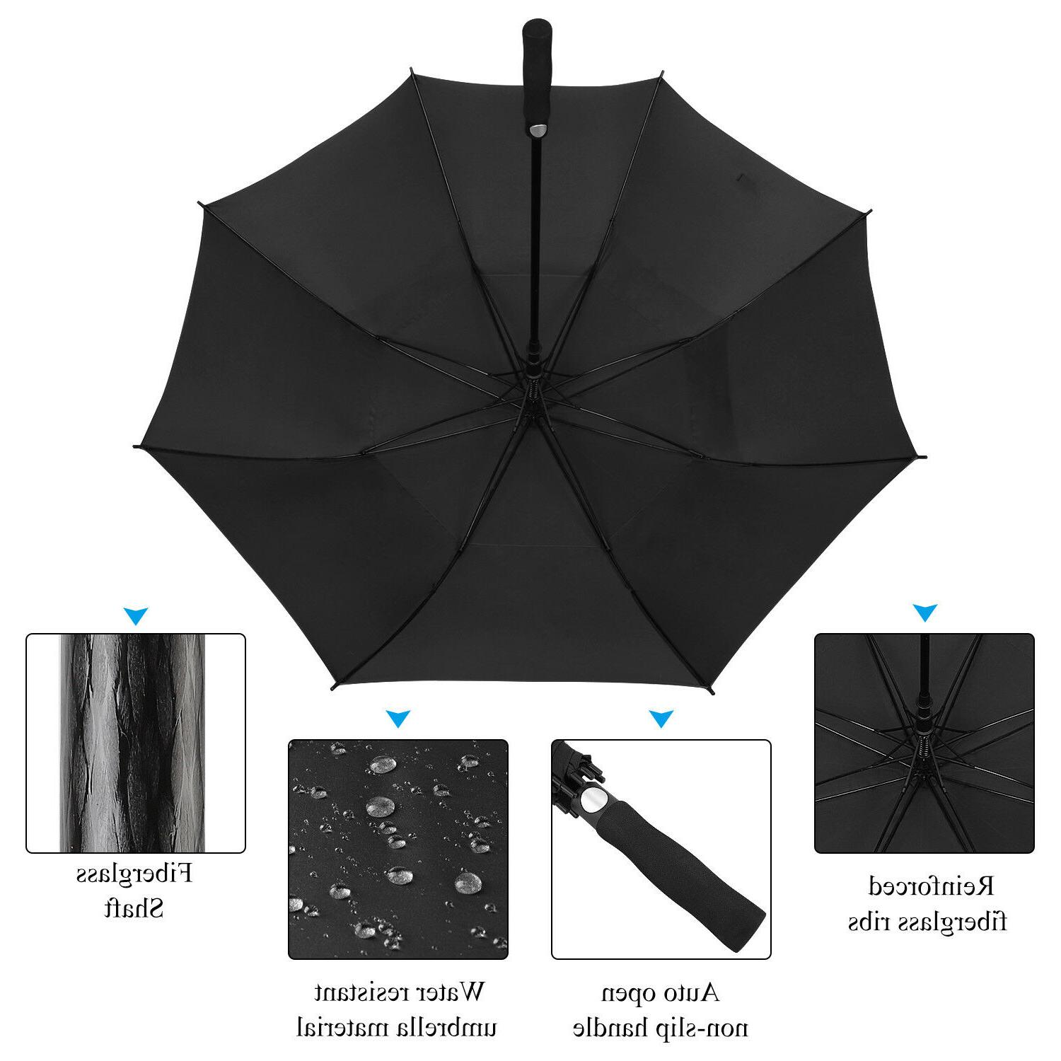 "AOACreations Windproof Umbrella 62"" Large Oversize Double Canopy"