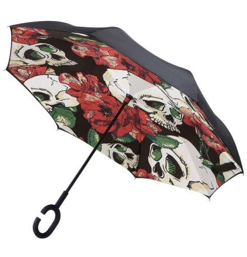 windproof double layer folding inverted umbrella nib