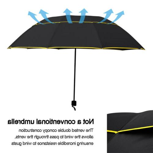 Windproof Folding Oversize Large Rain Golf Umbrella Women