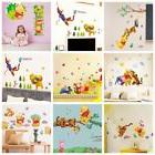 Winnie The Pooh Wall Stickers Nursery Kids Bedroom Removable
