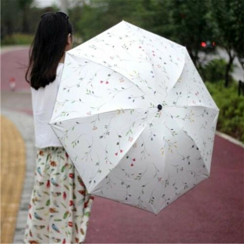Women Anti-UV Protection Flower Folding Umbrella