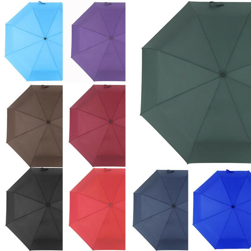 Folding Portable Anti-UV Rain Sun Parasol Travel New