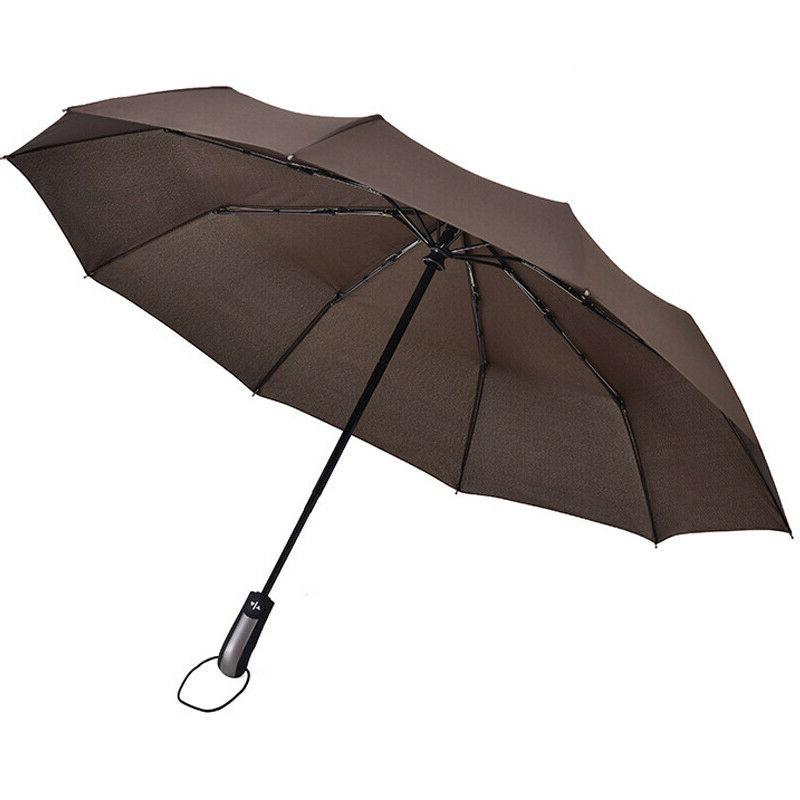 Automatic Windproof Large Umbrella Folding Travel Sun