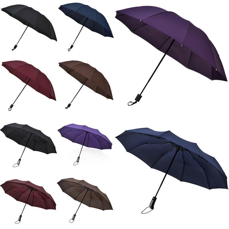 Automatic Rain Windproof Large Umbrella Compact Folding Trav