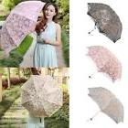 Women Girls Parasol Lace Floral Folding Umbrella Outdoor Ant
