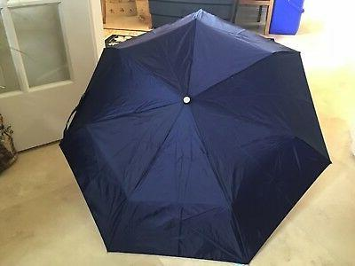 TOTES  WOMEN'S UMBRELLA  AUTO OEN AUTO CLOSE  NAVY BLUE NEVE