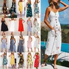 women summer boho long maxi dress evening