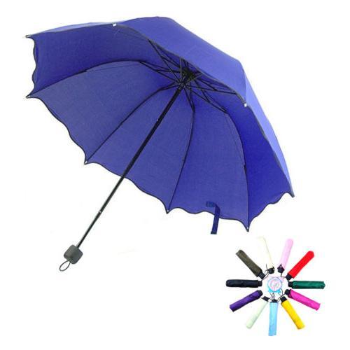 Women AntiUV Rain Sun Folding Travel