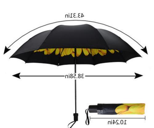 Women AntiUV Rain Parasol Folding