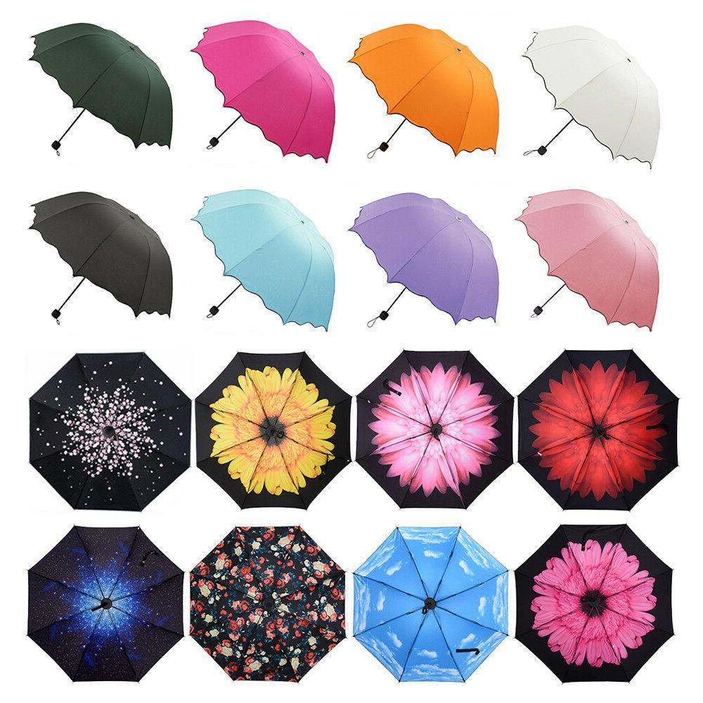 women windproof antiuv compact rain sun umbrella