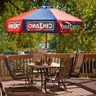 DestinationGear 9 ft. Wood Cinzano Market Umbrella, Red/Blue