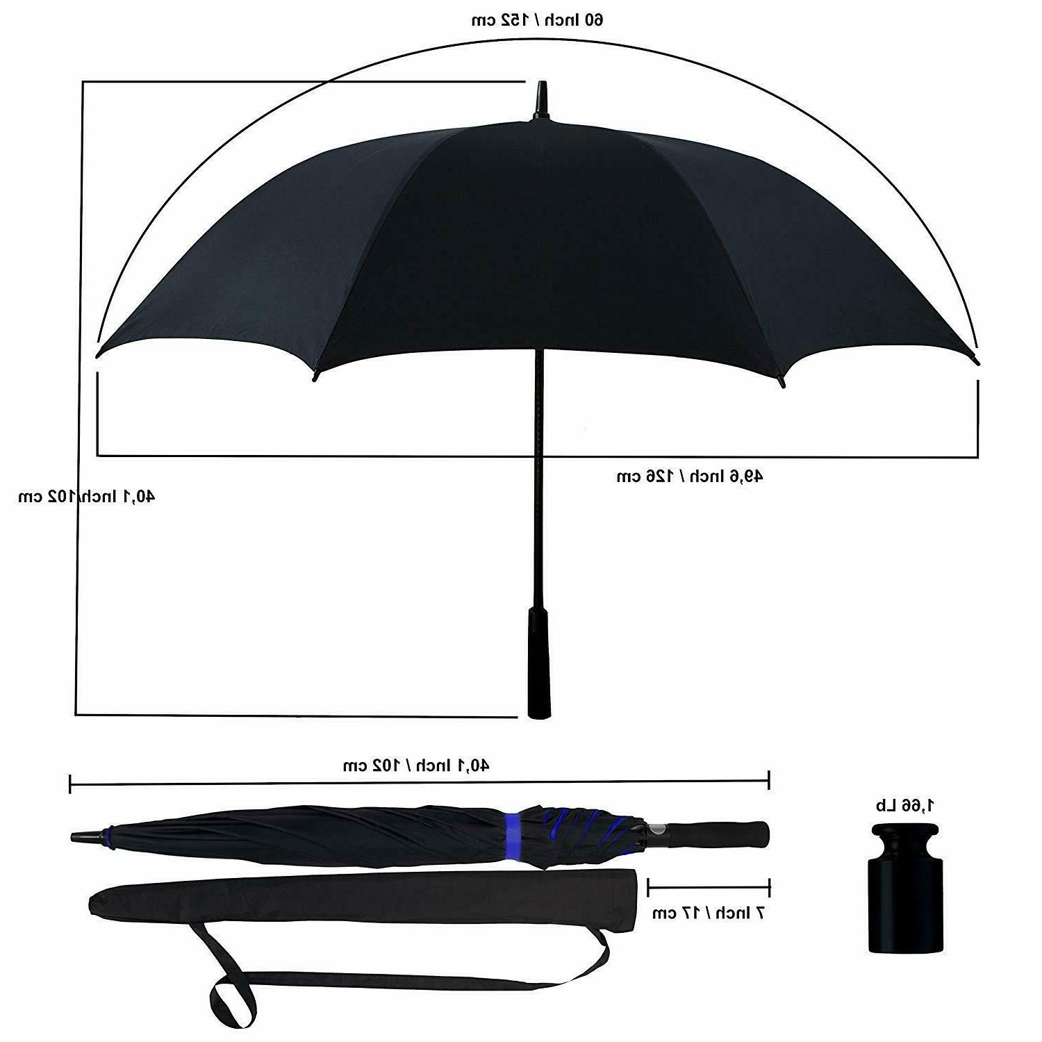 """Extra Large 60"""" Open Golf Windproof"""