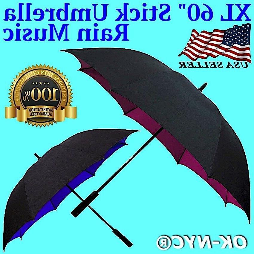 xl 60 automatic open golf stick umbrella