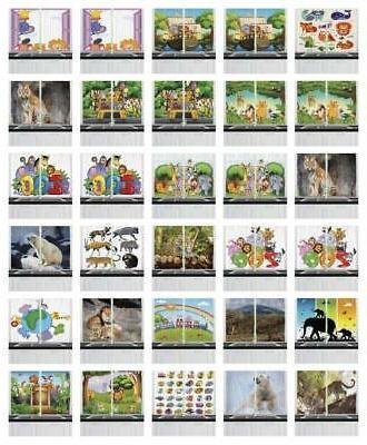 "Zoo Kitchen Curtains 2 Panel Set Window Drapes 55"" X 39"" Amb"