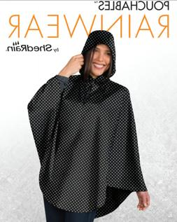 ShedRain Ladies' Packable Poncho One Size Fits Most