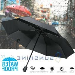 Large 50+ Anti-UV Sun Rain Protection Windproof 3 Folding Go