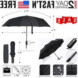 Umbrella Automatic Folding Windproof Compact Double Crown Co