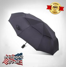 "CNHY Large 57"" Umbrella, Automatic Folding, Windproof Compac"