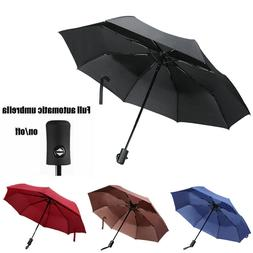 Large Automatic Auto Open Close Umbrella Compact Folding Win