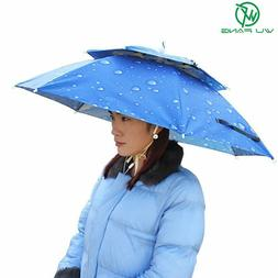 Large Double Layer Fishing Umbrella Hat Cycling Hiking Campi