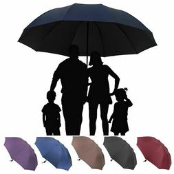 Large Folding Umbrella Men Women Anti-UV Windproof Rain Over
